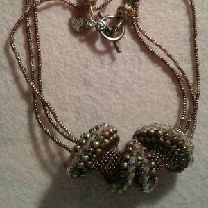 "Jewelry - ""Rainbow lights"" cellinI spiral multistrand neckla"